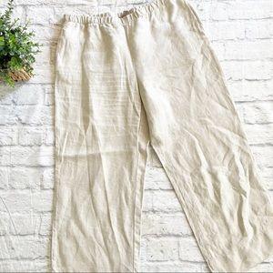 J. Jill wide leg 100% linen crop pants medium